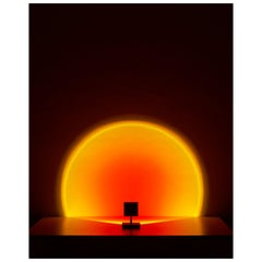 'Halo Mini' Sunset Red Floor Lamp or Color Projector by Mandalaki Studio