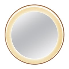 Halo Mirror 26 with LED Light, Ash Wood, Switch Dim