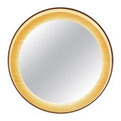 Halo Mirror 26 with LED Light, Black Oak, Switch Dim