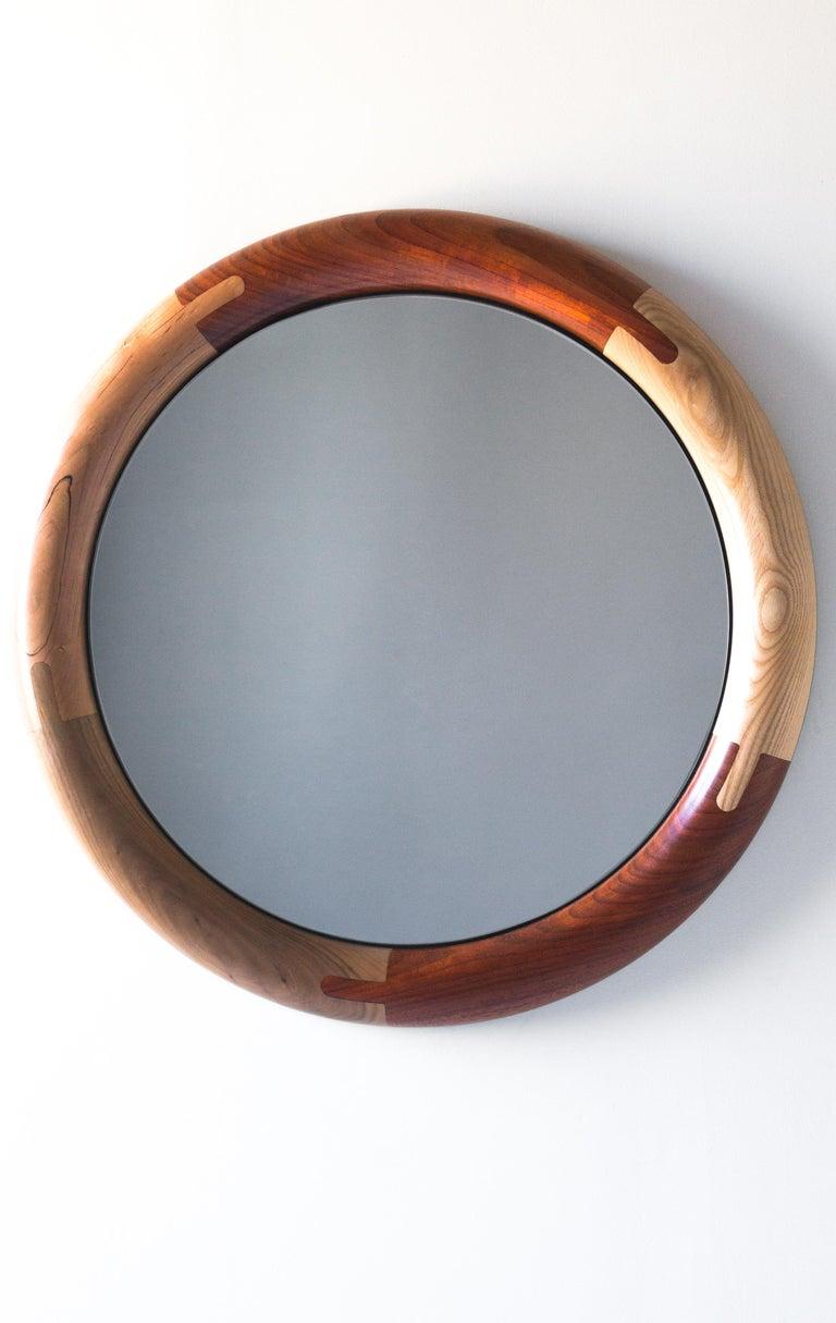 Polished Halo Mirror Round Birnam Wood Studio For Sale
