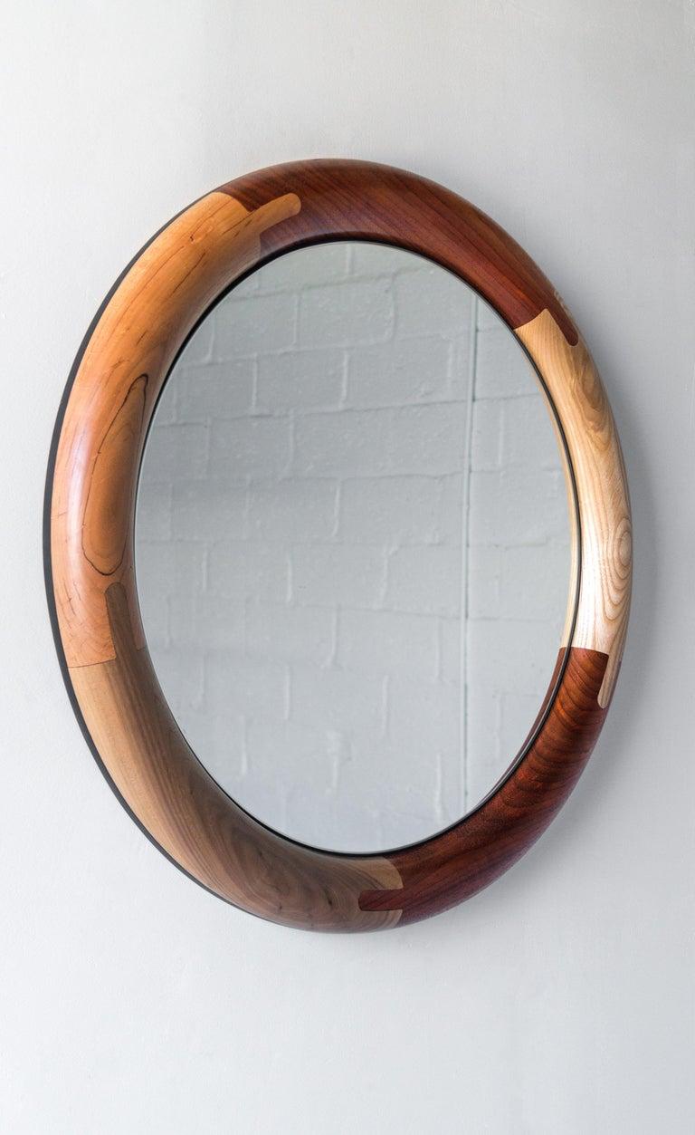 Contemporary Halo Mirror Round Birnam Wood Studio For Sale