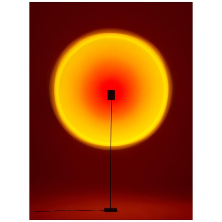 'Halo One' Sunset Red Floor Lamp/ Color Projector by Mandalaki Studio For Sale