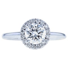 Halo Only Diamond Engagement Ring with Round Diamond