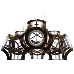 Halo Pendant Light in Brass by Cam Crockford