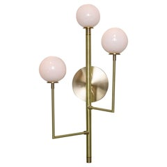 Halo Sconce 3, Brass, Hand Blown Glass Contemporary Wall Sconce, Kalin Asenov