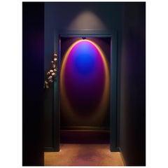 'Halo Sky' Deep Blue Floor Lamp/ Color Projector by Mandalaki Studio