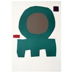 """HALOC"" Original Bauhaus Artist Linocut Print, Signed Werner Graeff"