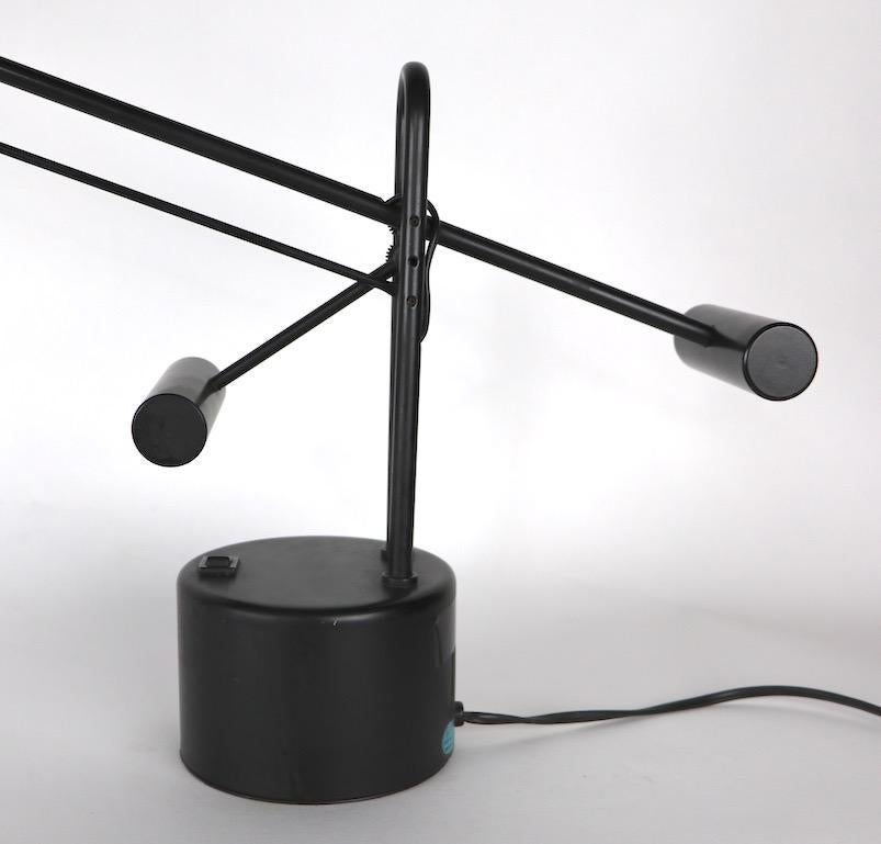 Halogen Angle Poise Desk Lamp In Good Condition For Sale In New York, NY