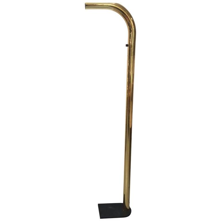 """Oca"" Halogen Brass Floor Lamp by Eulesi For Sale"