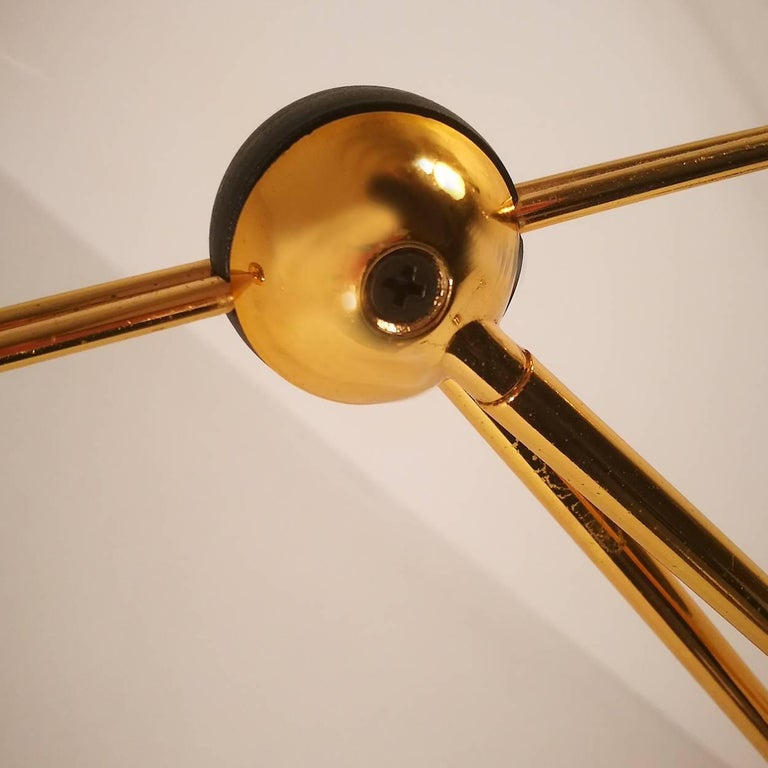 Halogen Floor and Table Lamp from Stephano Cevoli Gold-Plated, 1980s, Italy In Good Condition For Sale In Rijssen, NL
