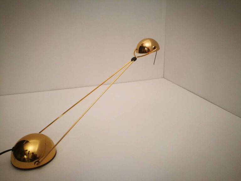 Gold Plate Halogen Floor Lamp