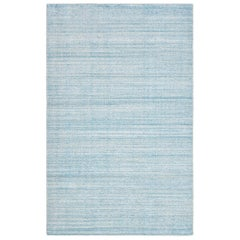 Halsey, Contemporary Solid Hand Loomed Area Rug, Light Blue