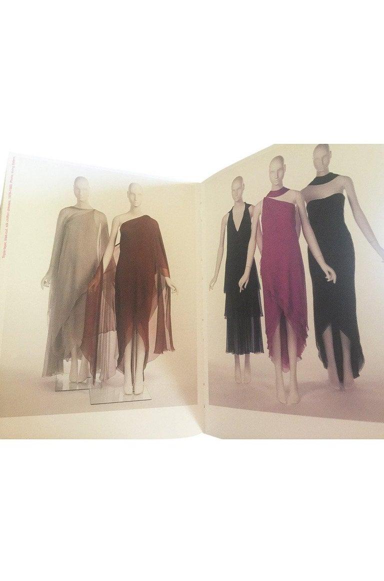 Halston Couture Silk Chiffon Dress and Shawl Overlay, circa 1973  For Sale 8