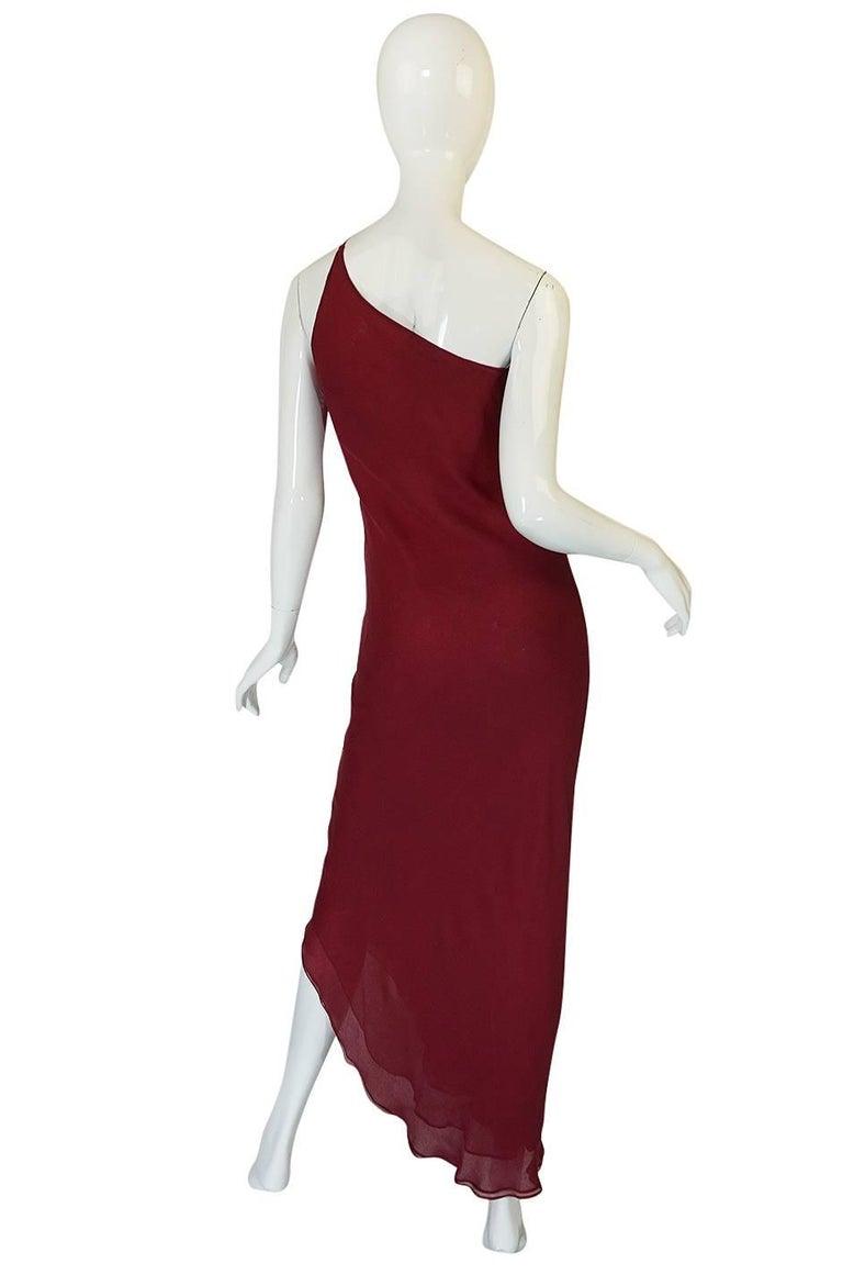 Black Halston Couture Silk Chiffon Dress and Shawl Overlay, circa 1973  For Sale