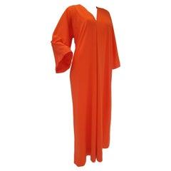 Halston IV Orange Jersey Caftan Kaftan