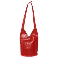 Halston Leather Bucket Tote (1975)