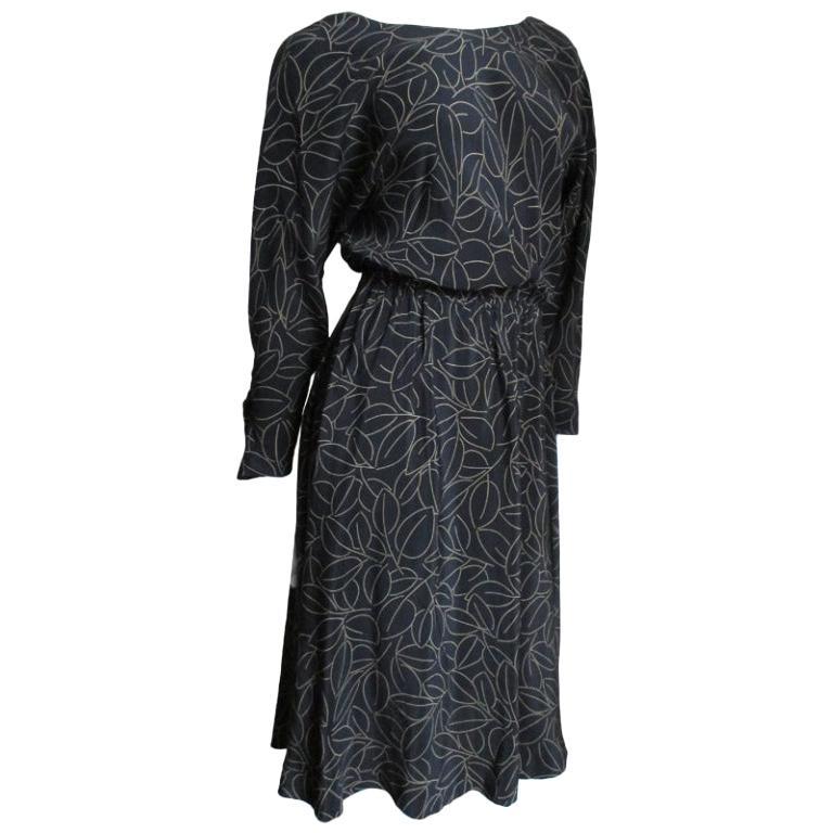 Halston Silk Wrap Dress 1970s For Sale