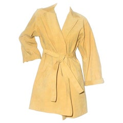 Halston Ultrasuede Trench Coat