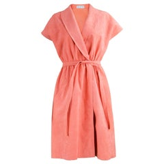 Halston Vintage 1970s Ultrasuede Coral Dress