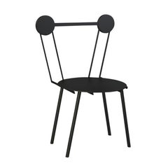 Contemporary Chair Black Haly Aluminium by Chapel Petrassi