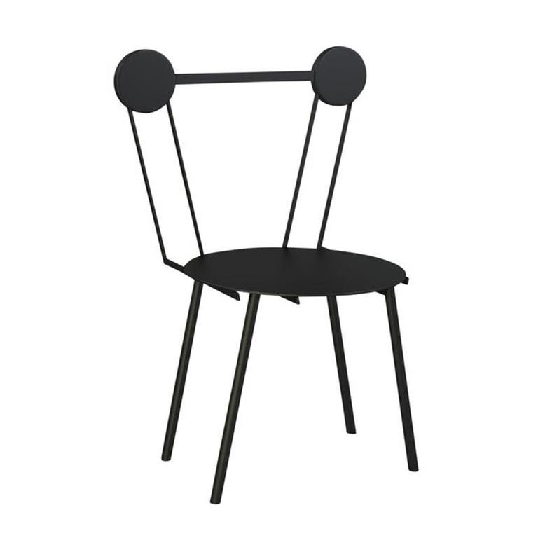 Chapel Petrassi Contemporary Chair Black Haly Aluminium  For Sale