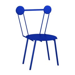 Contemporary Chair Blue Haly Aluminium by Chapel Petrassi