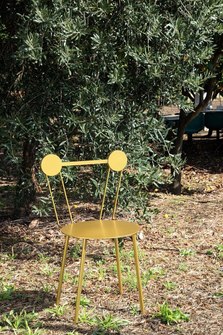 Italian Haly Chair Gold For Sale