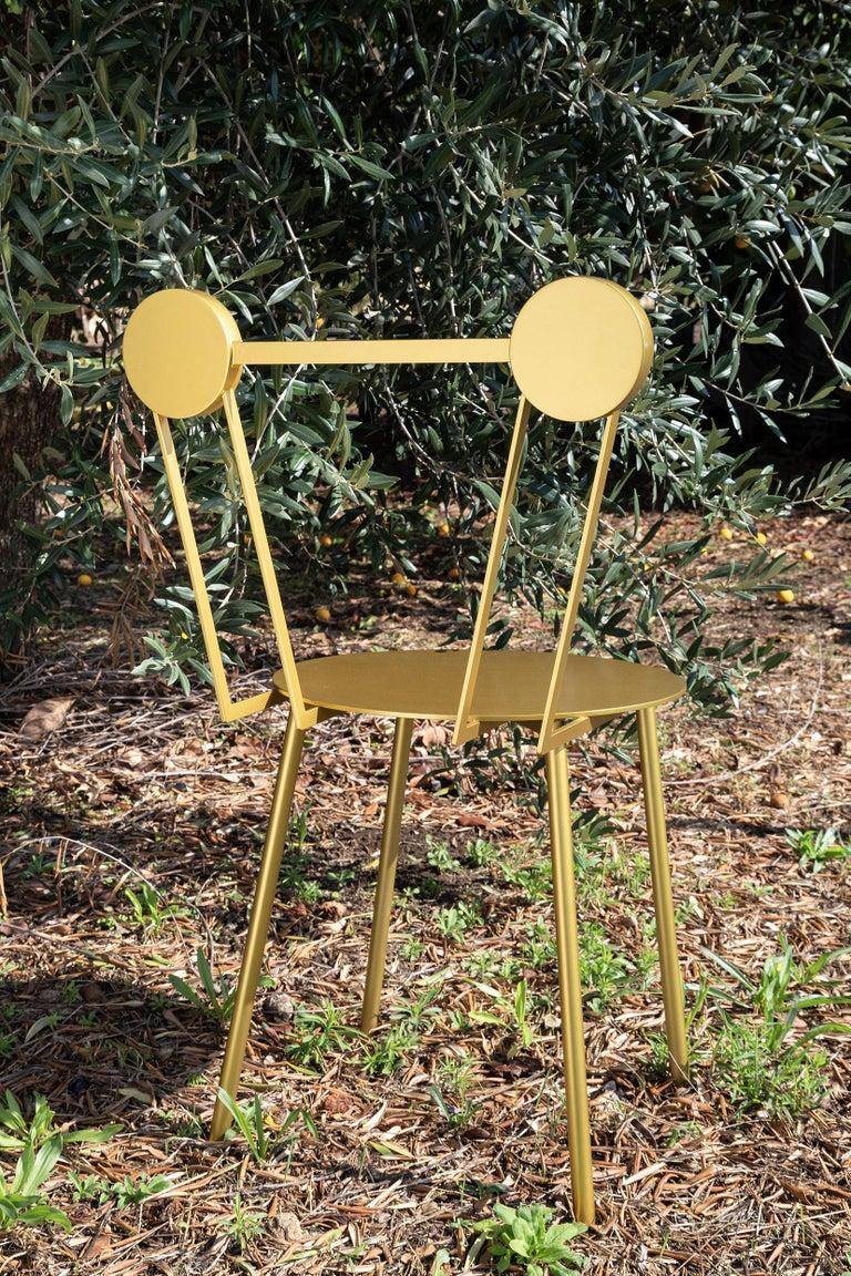 Lacquered Haly Chair Gold For Sale