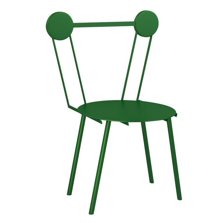 Chapel Petrassi Contemporary Chair Green Haly Aluminium  For Sale