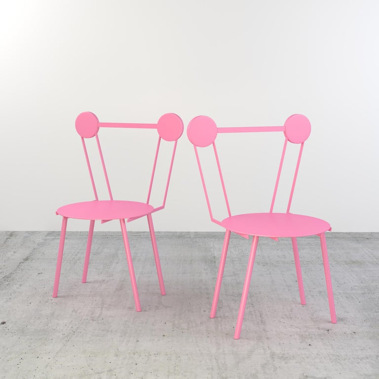 Other Chapel Petrassi Contemporary Chair Rose Haly Aluminium  For Sale