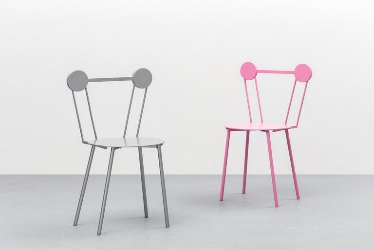 Italian Chapel Petrassi Contemporary Chair Rose Haly Aluminium  For Sale