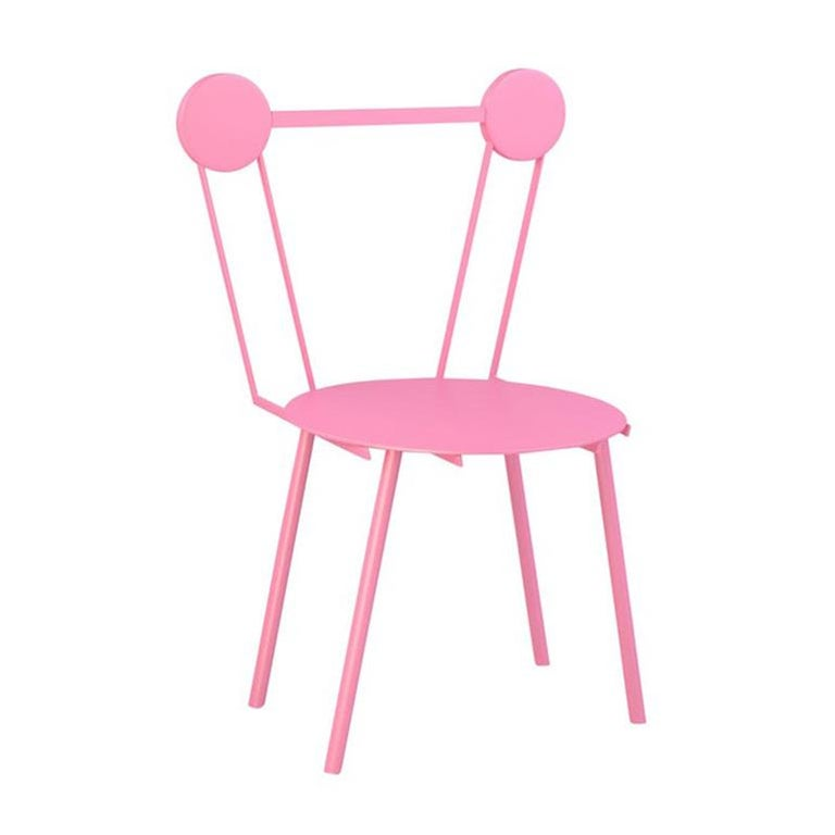 Contemporary Chair Rose Haly Aluminium by Chapel Petrassi For Sale