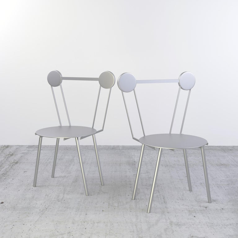 Other Chapel Petrassi Contemporary Chair Haly Aluminium  For Sale