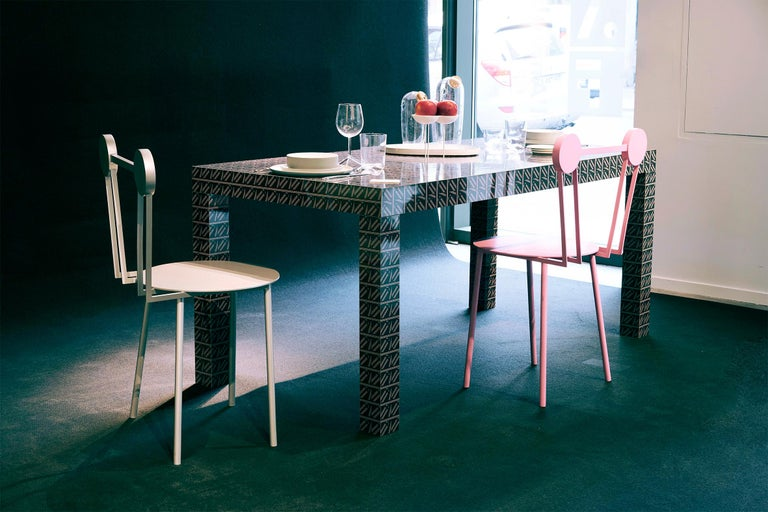 Aluminum Contemporary Chair Haly Aluminium by Chapel Petrassi For Sale
