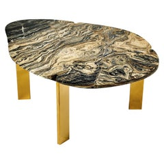 Halys Coffee Table Gold by Marble Balloon