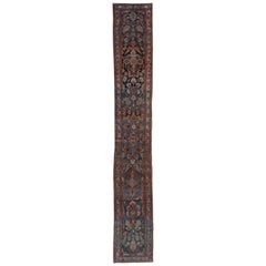 Hamadan Runner, Narrow, Antique, circa 1910s