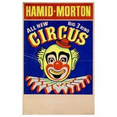 """Hamid-Morton Circus"" 1950s U.S. Window Card Poster"