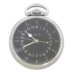 Hamilton 1942 4992B GCT US Military WWII Navigation 22J Pocket Watch AN 5740