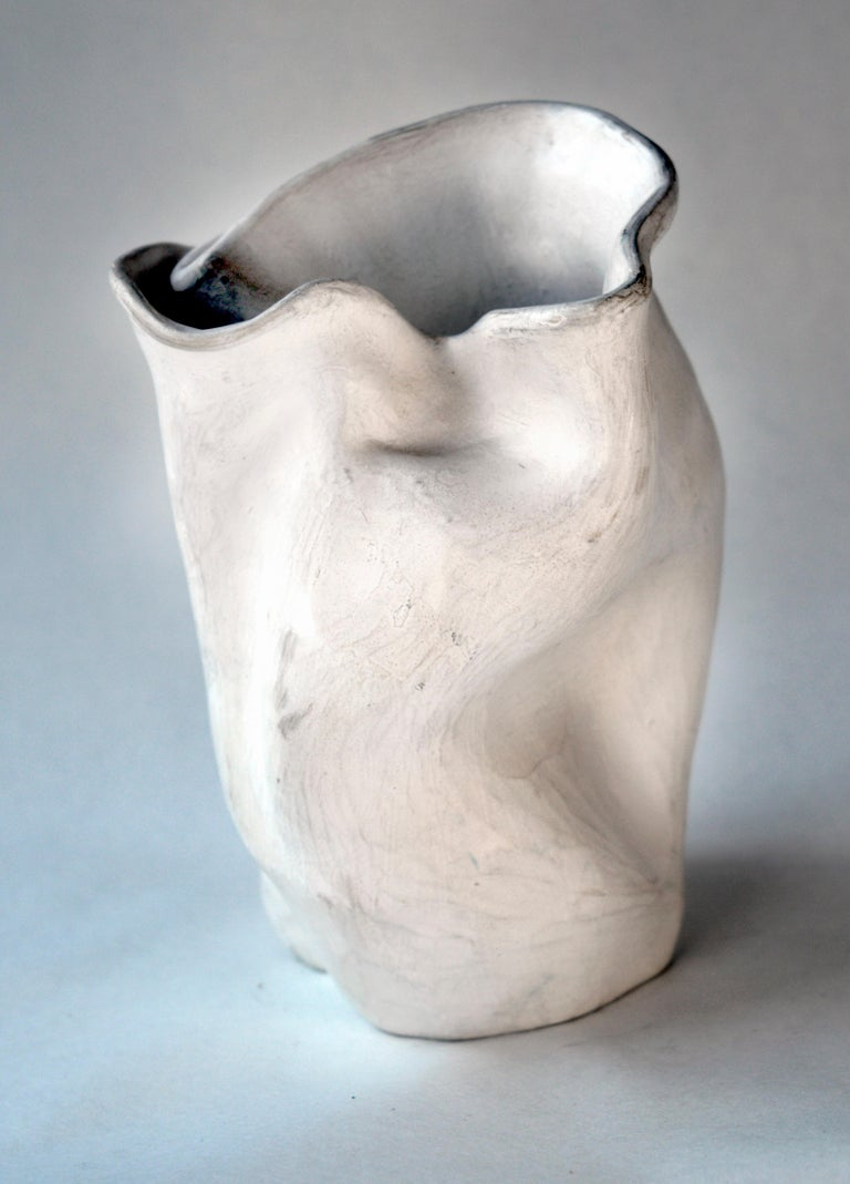 Early 1940s Abstract Pottery Vase #2 after George Ohr - Sculpture by Hamilton Achille Wolf