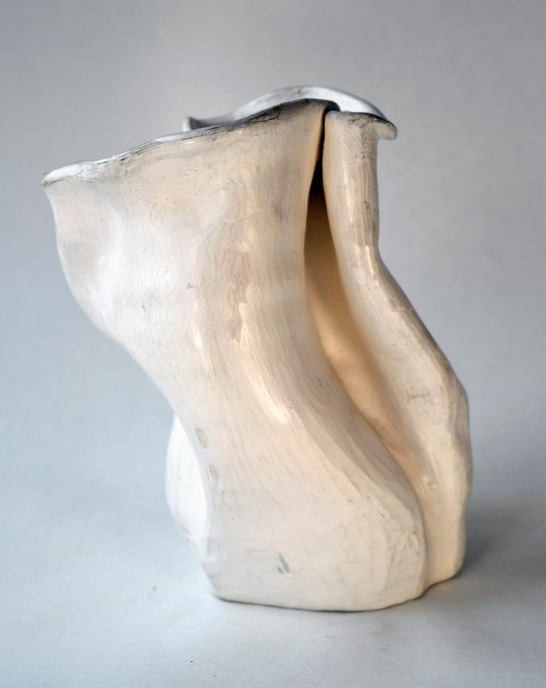 Early 1940s Abstract Pottery Vase #2 after George Ohr - Abstract Expressionist Sculpture by Hamilton Achille Wolf