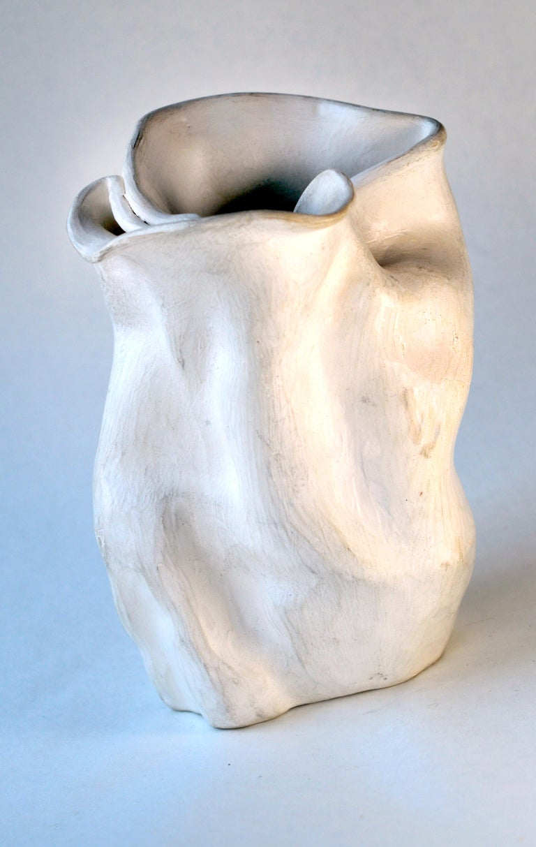 Hamilton Achille Wolf Abstract Sculpture - Early 1940s Abstract Pottery Vase #2 after George Ohr