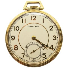 Hamilton Brass Pocket Watch with Display Back