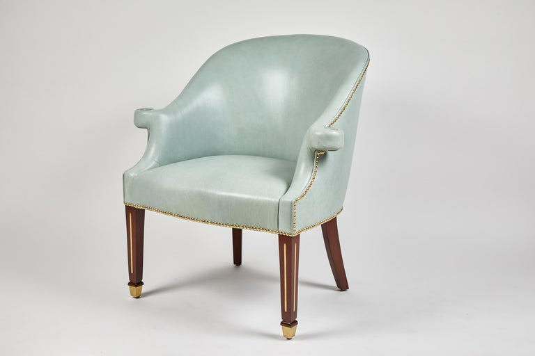 Leather Hamilton Chair by Dragonette Private Label For Sale
