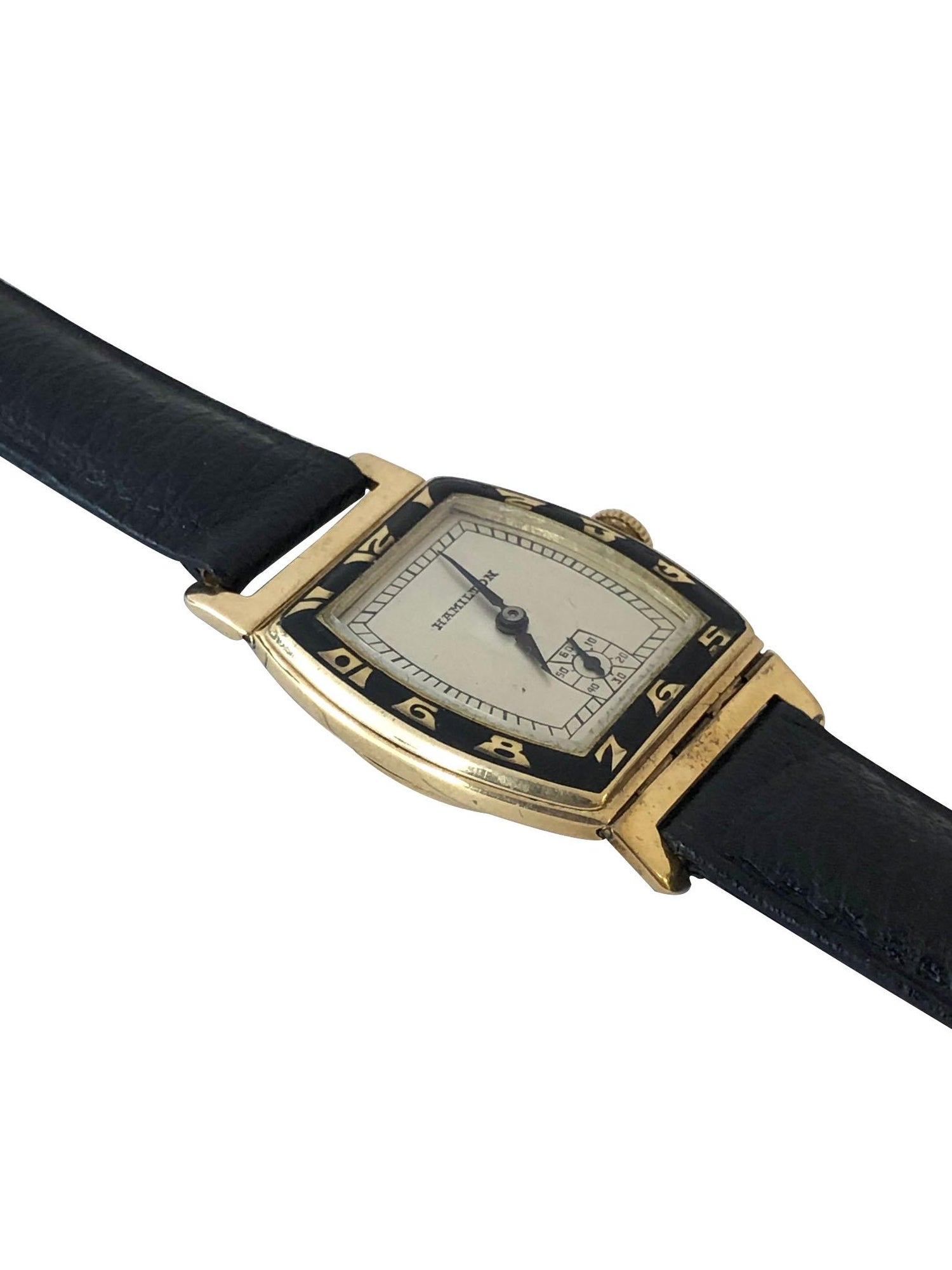 Hamilton Coronado 1930s Gold And Enamel Wristwatch At 1stdibs