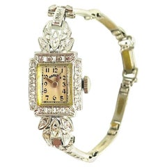 Hamilton, Diamond Encrusted 1920s Watch, 17 Jeweled