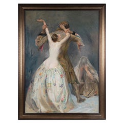 "Hamilton Hamilton Oil on Canvas ""Othello and Desdemona"""