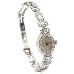 Hamilton Ladies Platinum Diamond Vintage manual wind Wristwatch