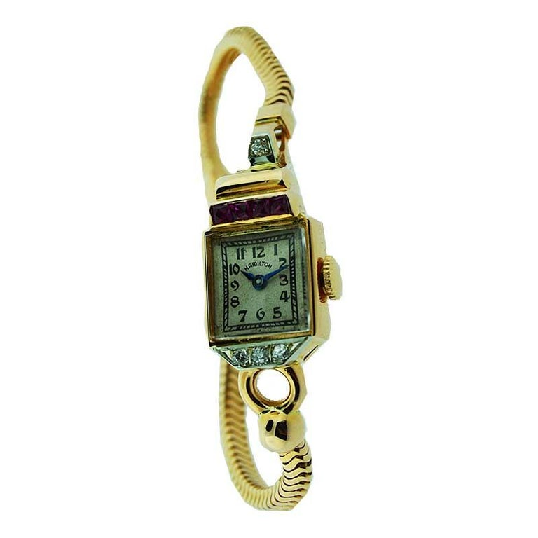 Hamilton Ladies Rose Gold Manual Wristwatch