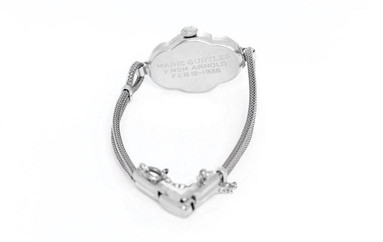 Women's Hamilton Ladies White Gold Diamond Wristwatch For Sale