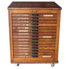 Hamilton Mfg. Printer's Cabinet